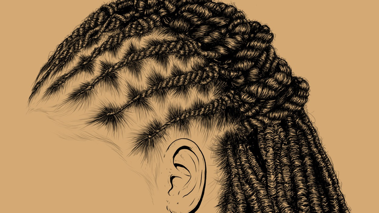 these intricate illustrations of black women's hair promote self-love
