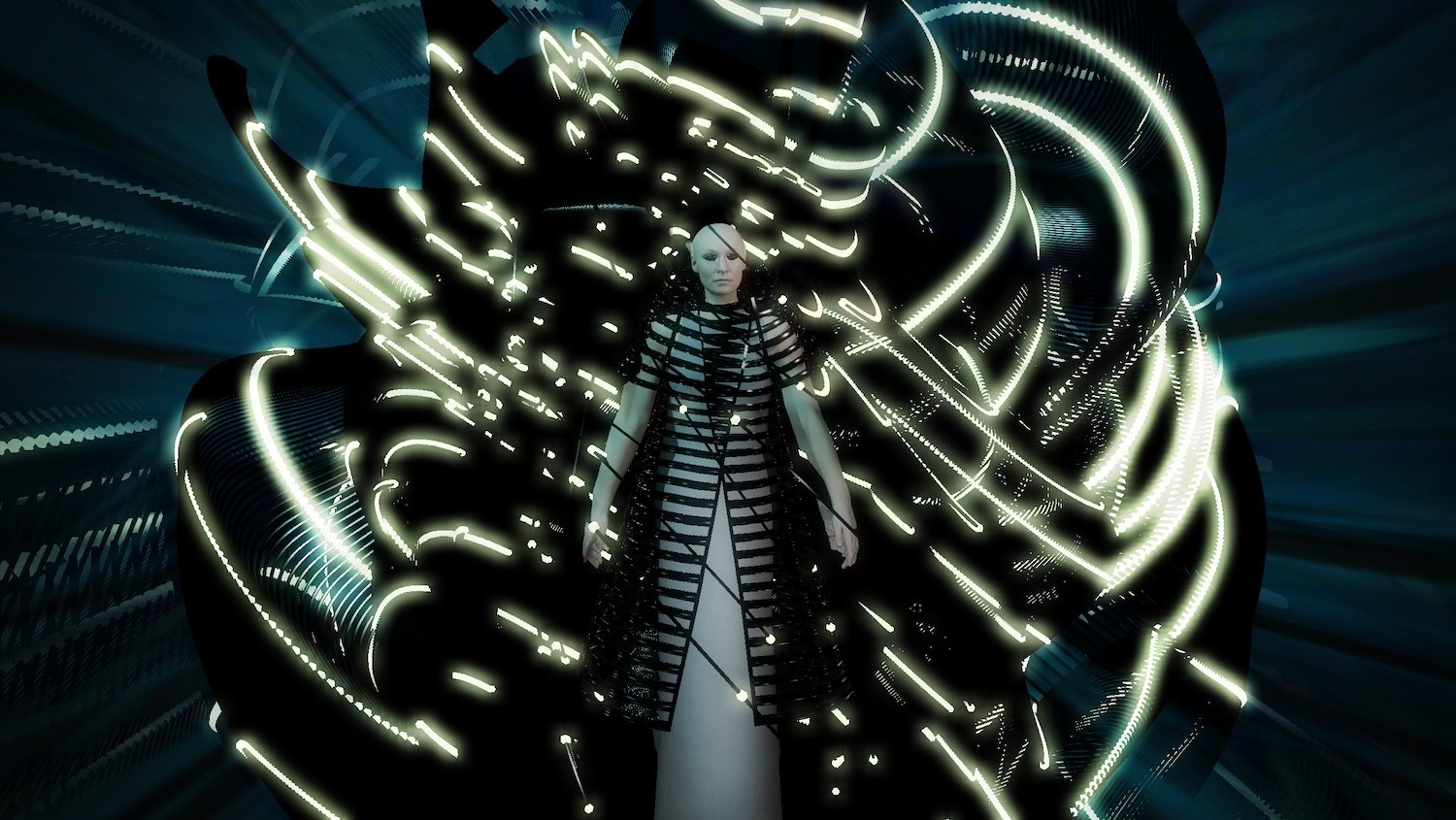 gareth pugh's designed some VR costumes for an opera set in space
