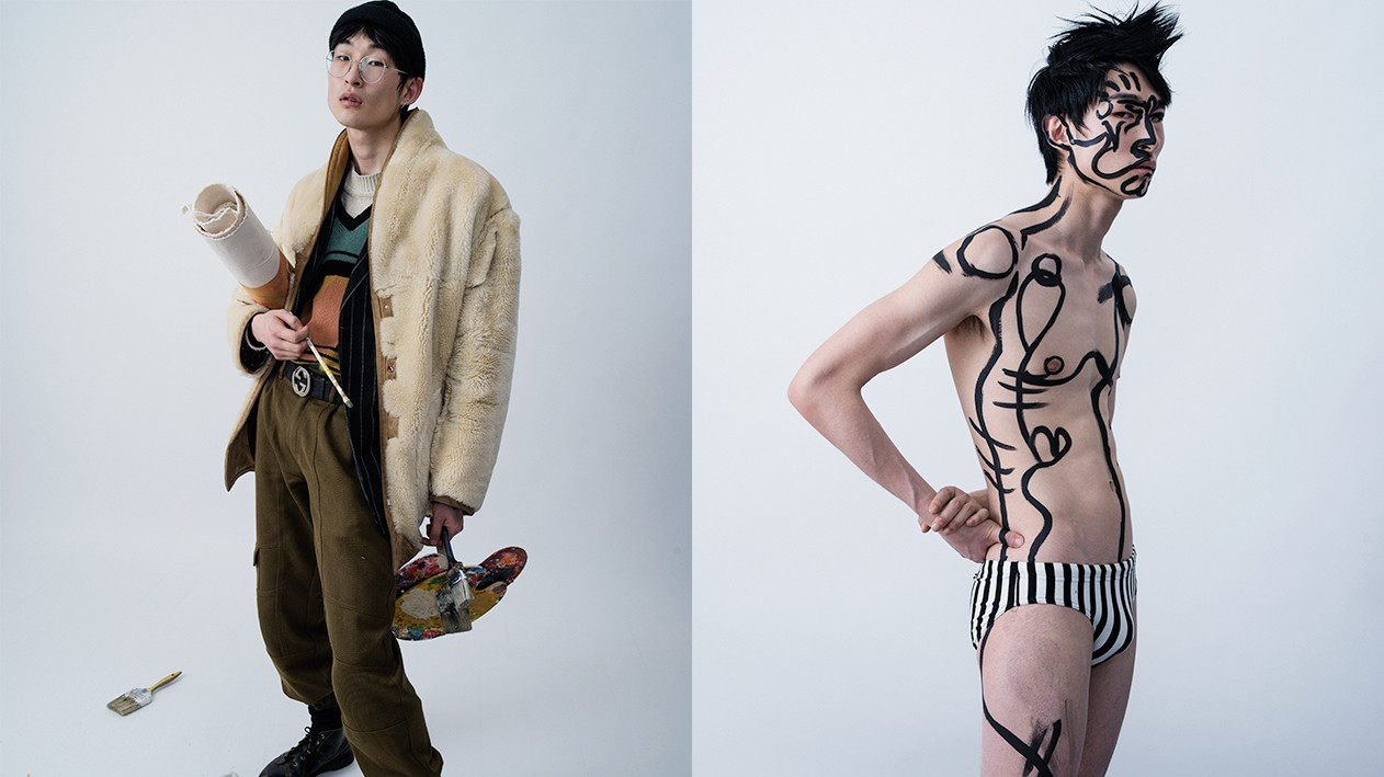 sang woo kim is the male model-turned-artist everyone's talking about