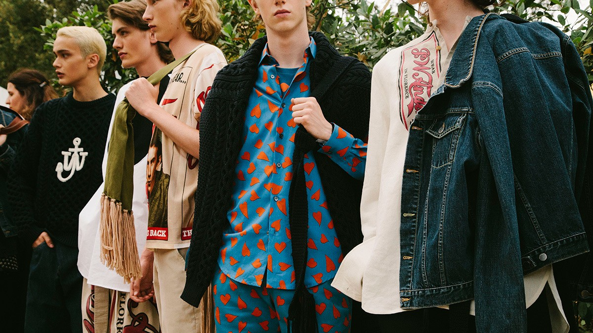j.w. anderson and off-white are waving the flag for instagram-era fashion at pitti