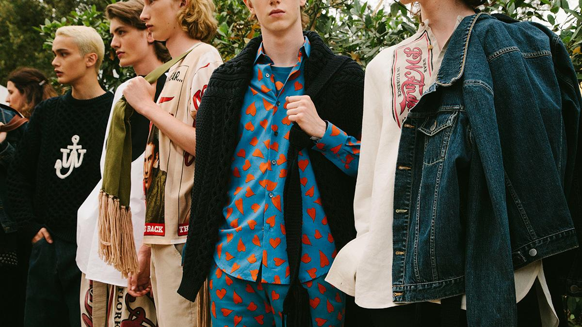 j.w.anderson and off-white are waving the flag for instagram-era fashion at pitti