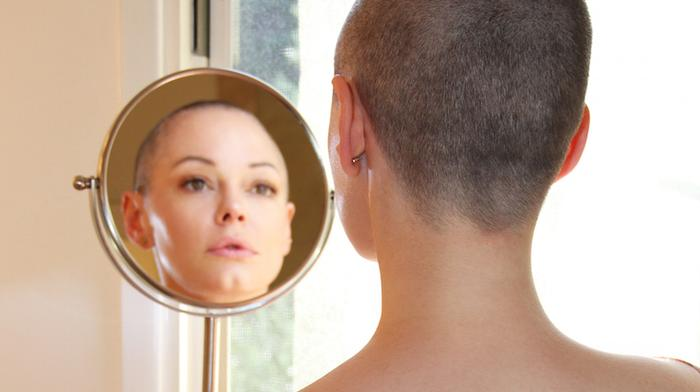 exclusive: rose mcgowan on why going bald is the ultimate feminist battle cry