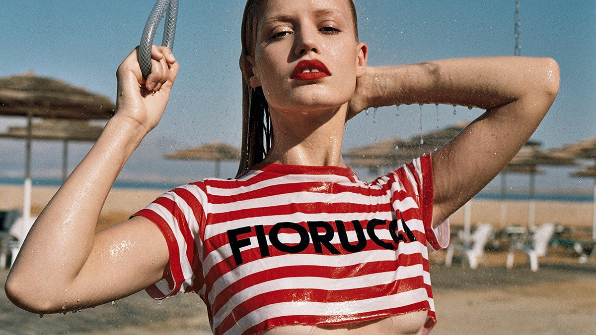 georgia may jagger is the ultimate summer babe in new fiorucci ads