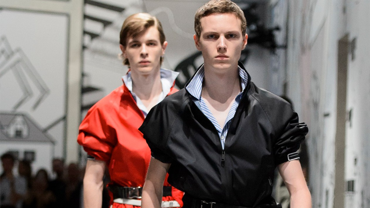 and then a hero comes along: prada, dsquared2 and msgm at milan men's