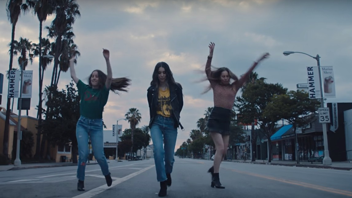 learn the dance routine from haim's want you back video