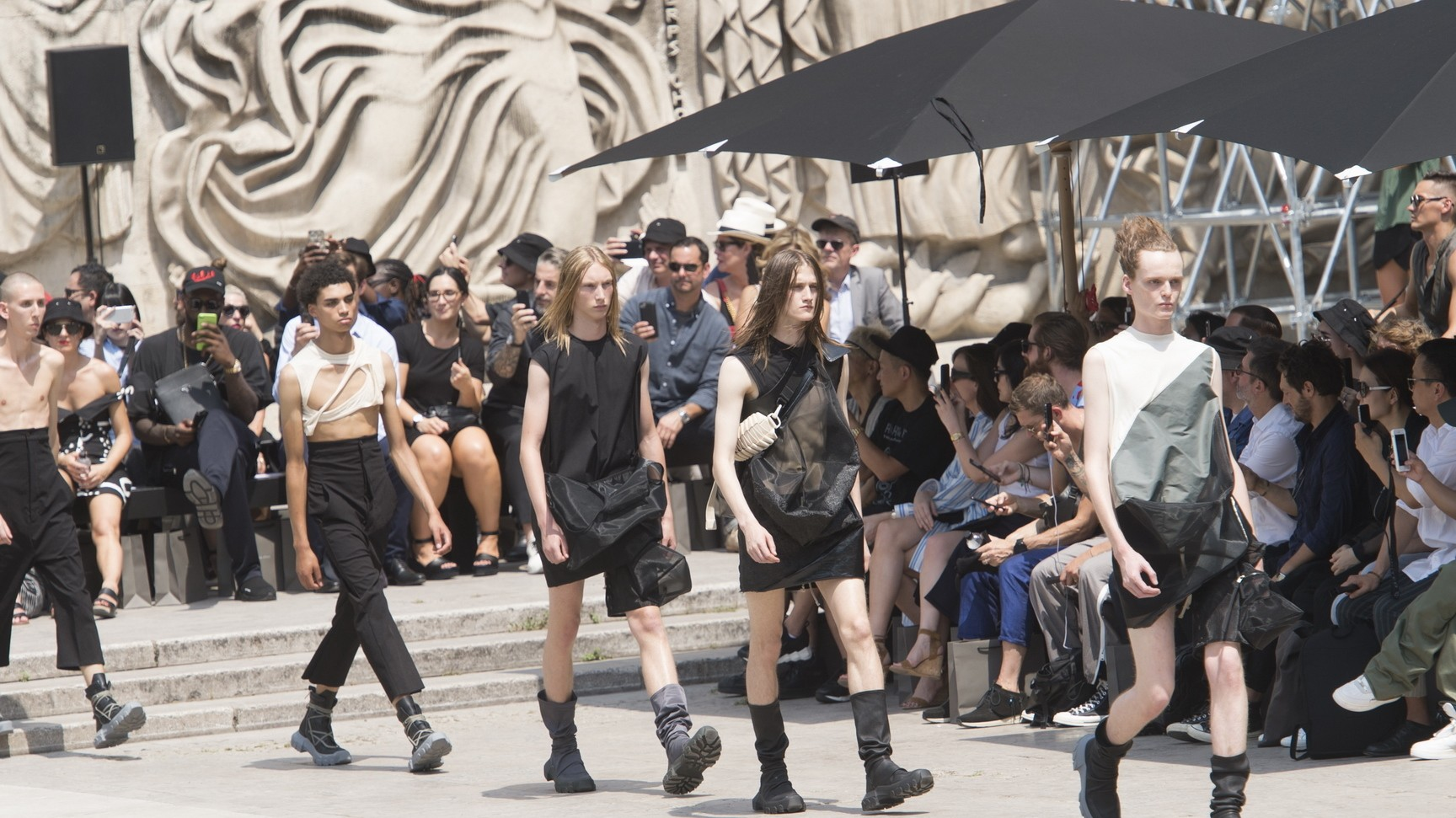 rick owens elevates everything at paris fashion week spring/summer 18