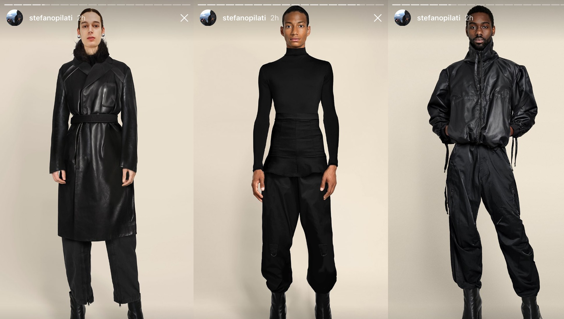stefano pilati teases his new genderless collection on instagram