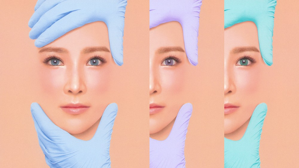 these photos critique south korea's plastic surgery mania