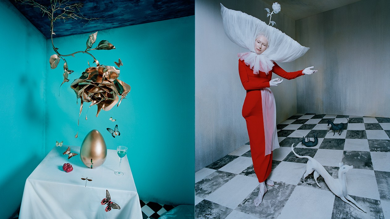 tim walker fotografa la surreale regalità di tilda swinton
