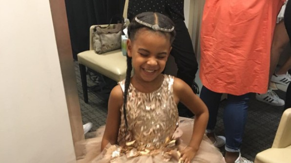 listen to blue ivy carter's impressive freestyle rap game