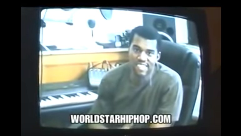 watch young kanye rap for jay-z in the studio