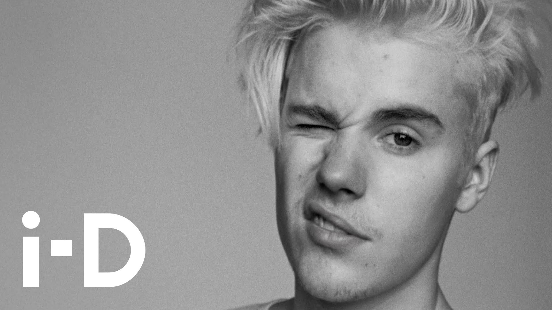 see justin bieber's i-D cover shoot in motion